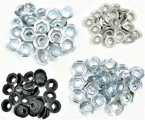 GM PAL Nuts- Emblem Trim Chrome etc- Fits 4mm to 8mm Studs- 100 nuts (25ea) #045