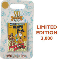 Disney Store Pluto Food For Feudin Movie Poster 90th Birthday Anniversary Pin LE