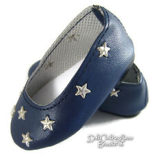 Navy Star Ballet Flats Shoes fits 18 inch American Girl Doll Clothes Accessories