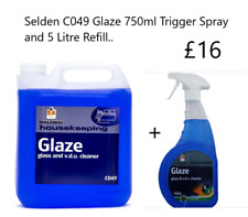 Selden Glaze, Glass and VDU Cleaner, 750ml Spray and 5L Refill, FREE DELIVERY