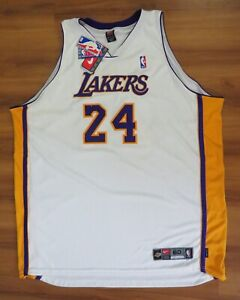 KOBE BRYANT Lakers #24 WHITE NIKE Authentic ON-COURT JERSEY Size 60 4XL New NWT