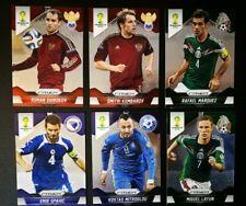 2014 Panini World Cup (Brazil) 6x Cards [Russia / Mexico / Greece / Bosnia]