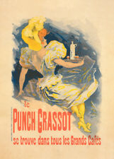 Punch Grassot by Jules Cheret 90cm x 64cm Art Paper Print