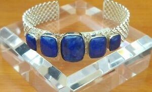 Jay King 5-Stone Lapis Sterling Silver Cuff Bracelet NWT Pretty Color!!