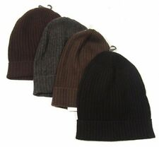 "Bloomingdale's ""The Men's Store"" Men's Ribbed Cuff Cashmere Beanie Cap Hat $125"