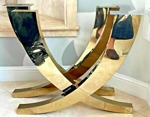 Set of 2 Gold Stainless Steel Dining Table Legs - Ready to Ship