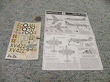 Modeldecal  decals 1/72 #7 RAF Hunter F6 Meteor F4 Phantom FGR2 Harrier GR1   G5