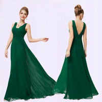 Ever-Pretty Bridesmaid Dresses Green Long Chiffon Formal Evening Ball Gown 08110