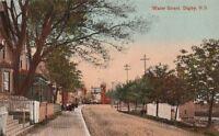 Postcard Water Street Digby Nova Scotia Canada