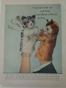 1951 Reed & Barton sculpture classic rose Francis I sterling silver puppets ad