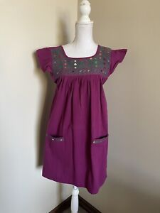 Mexican Embroidered Dress Punta Cruz Girls Size 10