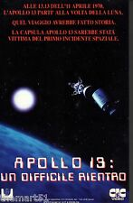 Apollo 13 Un difficile rientro (1974) VHS CiC  Video 1a Ed.   Gary Collins rara