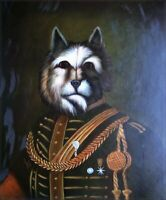Quality Hand Painted Oil Painting Dog General 20x24in