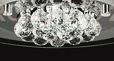 AUROLITE Nova Genuine Crystal Glass  Modern Semi Flush Light Polished Chrome