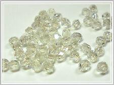 30 böhmische Glasperlen facettiert kristall 4mm