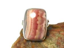 RHODOCHROSITE   Sterling  Silver  925  Gemstone  RING  -  Size N
