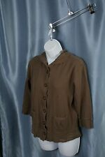 Good Karma by Life is Good Button Down Hoodie Size Medium - Stains            -L