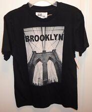 Brand New Copper Denim Brooklyn Boy's Youth Black T-Shirt size M (8-10) NWT!