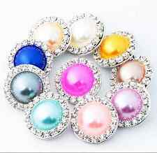 6pcs handmade Hot Snaps Chunk Charm Button for leather Bracelets