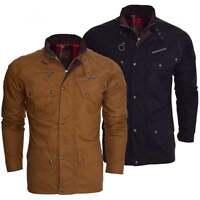 Ringspun Mens Designer High Quality Cotton Field Jacket Men's Smart Casual Coat