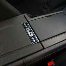 Chrome Mustang Center Console Button with 5.0 Logo for a Sleek Look