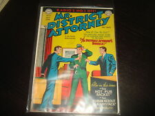 MR DISTRICT ATTORNEY #9  Golden Age Pre-Code Crime  DC Comics 1949  FN