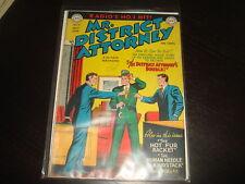MR DISTRICT ATTORNEY #9  Golden Age Pre-Code Crime  DC Comics 1949  FN