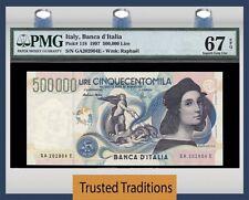 TT PK 118 1997 ITALY BANCA D'ITALIA 500000 LIRE PMG 67 EPQ SUPERB ONLY ONE FINER
