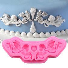 Cake Fondant Mould Decorating Chocolate Baking Silicone Mold Angel Cupid shape