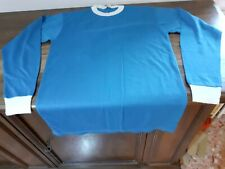 MAGLIA SHIRT VINTAGE '70 '80 CALCIO FOOTBALL BLU BIANCA WHITE BLUE N°14