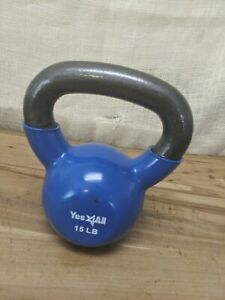 Excellent Condition Yes 4ALL 15lb Coated Rubber Kettlebell