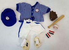"""Tender Heart Treasures Little Slugger Baseball 13 pc Outfit for 12"""" Bear #82032"""