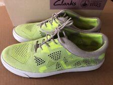 Clarks Womens Glove Glitter Sneaker-  SZ 7.5. Color: Yellow Neon