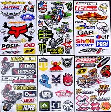 6 stickers decal Rockstar etc Energy Motocross drink MX moped quad BMX Bike sDA