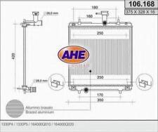 Radiatore raffreddamento motore Peugeot 107 1.0 02/05> (370x345x16)