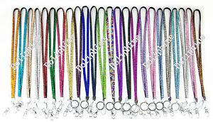 Multi Colors Rhinestone Necklace LANYARD Key chain for Key, ID Badge Holder