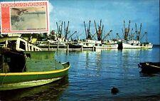 Trinidad Tobago Shrimp Boat Port-of-Spain West Indies AK ~1970 color Postkarte