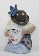 "LLADRO ""CLOWN'S HEAD BOWLER-HAT"" (PENSIVE CLOWN) #5130 FIGURINE ~ MINT W/BOX ~"