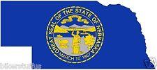 NEBRASKA SILHOUETTE STATE USA MAP FLAG BUMPER TOOL BOX STICKER LAPTOP STICKER