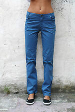 JECKERSON donna vintage elettrico Stretch Blu Denim Jeans Gamba Dritta W30 UK12