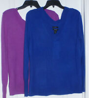 HALOGEN Women's 100% Cashmere V-Neck Sweater, Various, NWT