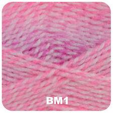 James C Brett Double Knitting Baby Marble Wool Lemon White 5x100g Yarn Knit BM19