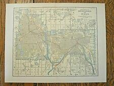 Original 1914 map of Minneapolis /St Paul Minnesota