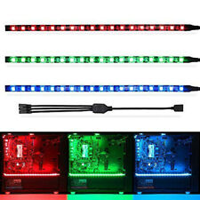 3pcs 50cm 5050 Black PCB RGB Gaming LED Strip with 4pin Cable For PC Case 12V