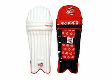 Cw Skipper Batting Cricket Leg Pads Red Pvc Small Boys Size 3 For 5-6 Yrs Rh/Lh