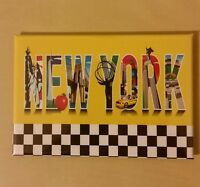 fridge magnet NYC souvenir New York City yellow