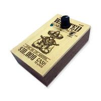 Wanted Distortion Guitar Pedal Wooden Box Handmade
