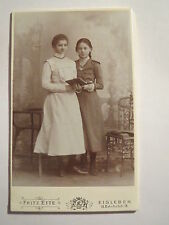 Lutheran-October 1901 - 2 Standing Girl in Dress with Book-Portrait/Cdv