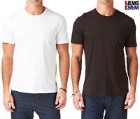 Levi's 2-Pack Men's Crew Neck Plain T-Shirts, Black/White