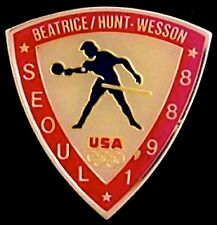 Table Tennis Olympic Pin ~ Seoul~1988~ Beatrice Hunt Wesson